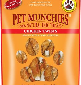 Pet Munchies Chicken Twists 100% Natural Dog Treats, 80g