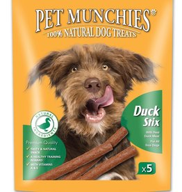 Pet Munchies 100% Natural Dog Treats, Duck Stix 50g