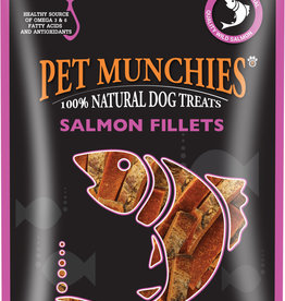 Pet Munchies 100% Natural Dog Treats, Salmon Fillets 90g