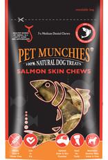 Pet Munchies Salmon Skin Chews 100% Natural Dog Treats, 90g