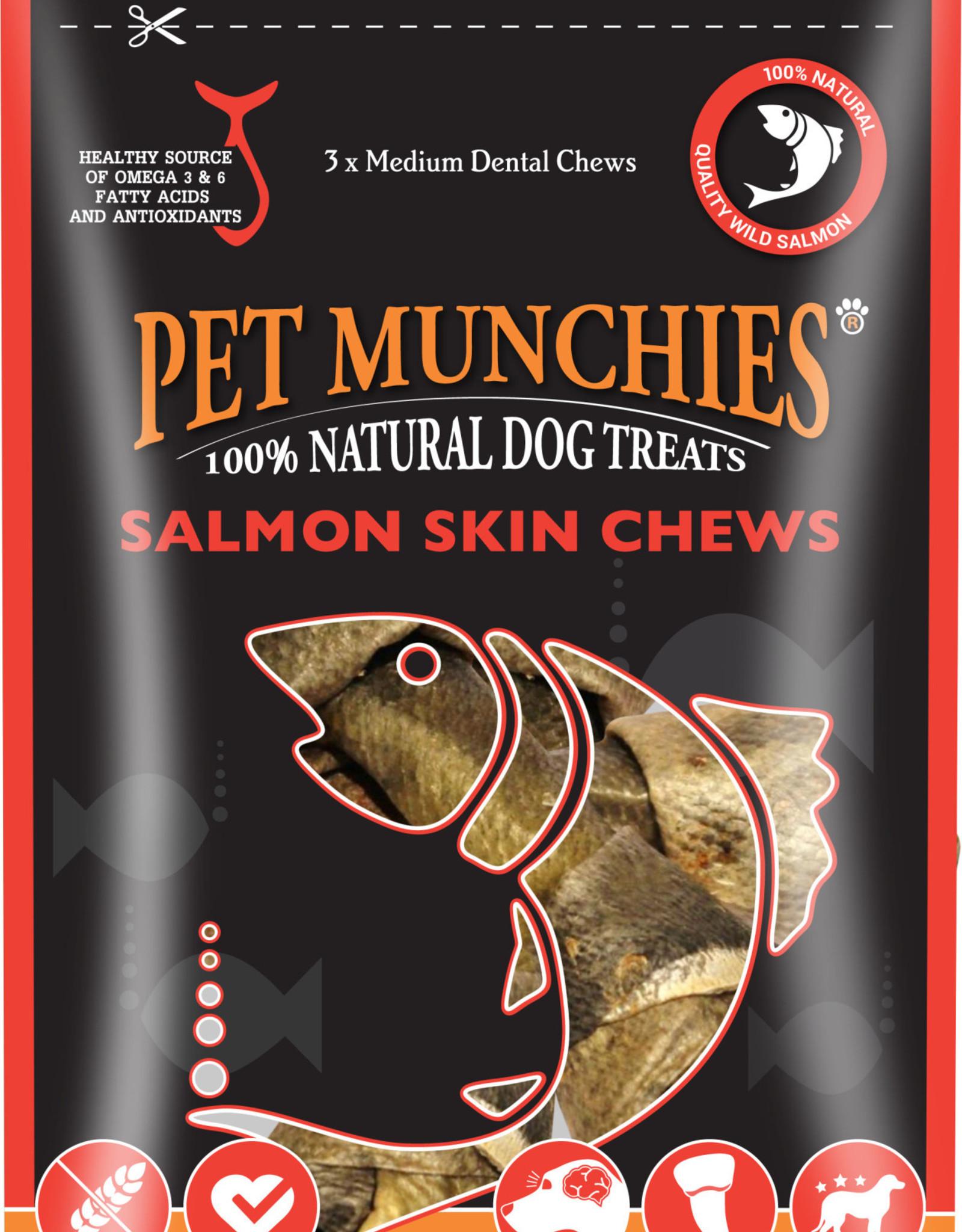 Pet Munchies 100% Natural Dog Treats, Salmon Skin Chews 90g