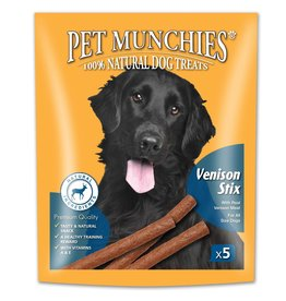 Pet Munchies Gourmet Venison Stix 100% Natural Dog Treats, 50g
