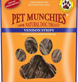 Pet Munchies 100% Natural Dog Treats, Venison Strips 75g