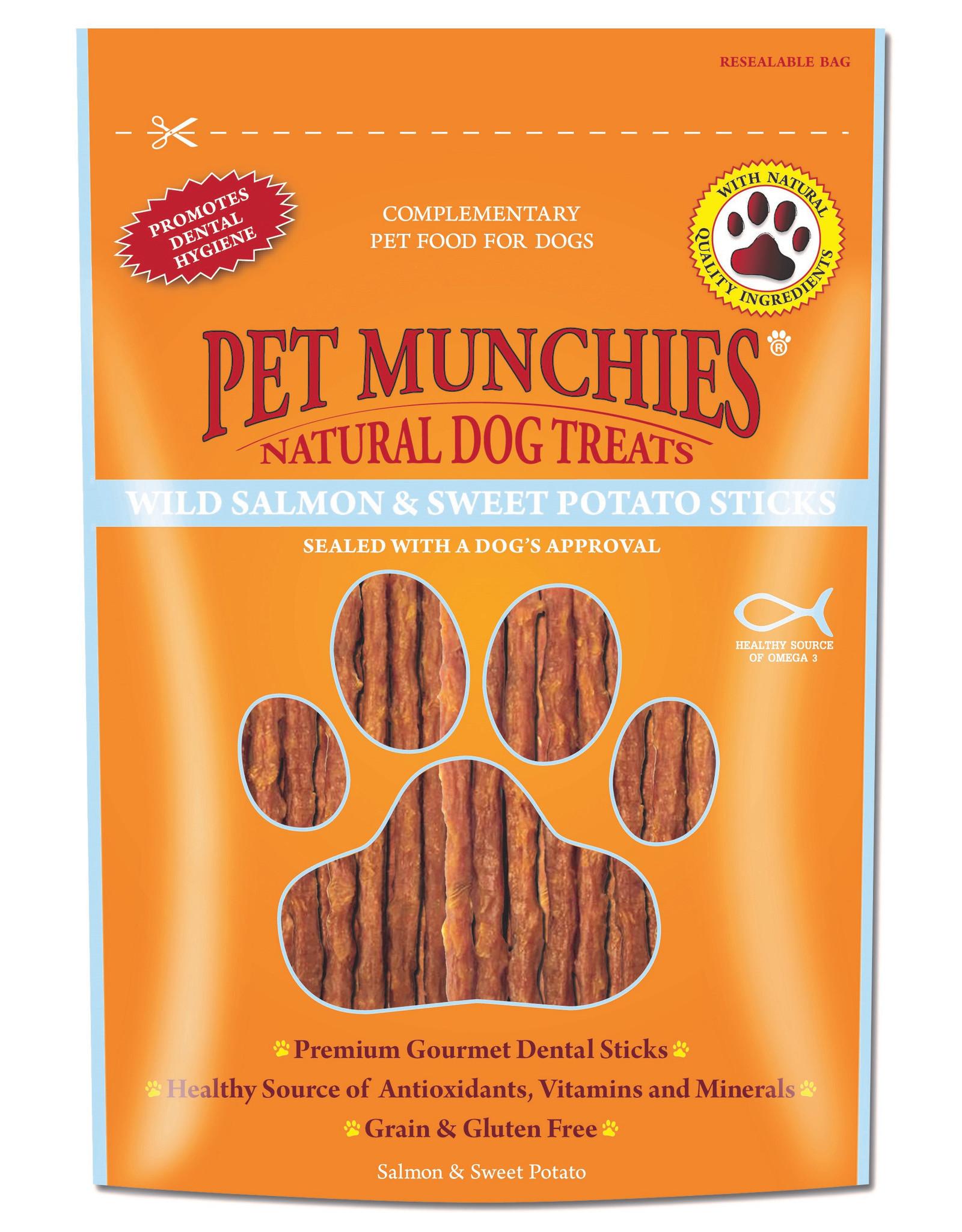 Pet Munchies Wild Salmon & Sweet Potato Sticks 100% Natural Dog Treats, 90g