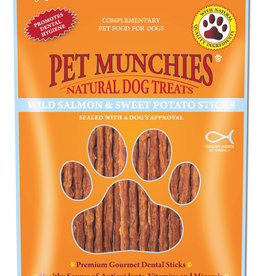 Pet Munchies 100% Natural Dog Treats, Wild Salmon & Sweet Potato Sticks 90g