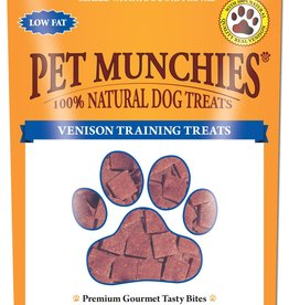 Pet Munchies 100% Natural Training Dog Treats, Venison 50g