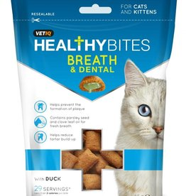 (Mark & Chappell) VetIQ Cat Treats Healthy Bites Breath & Dental 65g