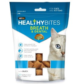 Mark & Chappell VetIQ VetIQ Healthy Bites Breath & Dental for Cats & Kittens, 65g
