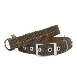 Earthbound Tweed Dog Collar in Brown *CLEARANCE