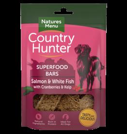 natures menu Country Hunter Superfood Bar Salmon & White Fish with Cranberries & Kelp Dog Treats, 100g