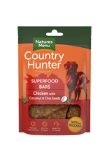 natures menu Country Hunter Superfood Bar Chicken with Coconut & Chia Seeds Dog Treats, 100g