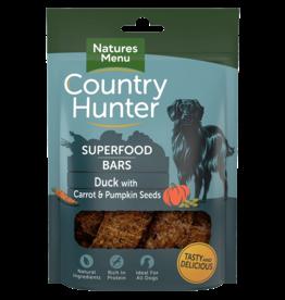 natures menu Country Hunter Superfood Bar Duck with Carrot & Pumpkin Seeds Dog Treat, 100g