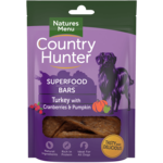 natures menu Country Hunter Superfood Bar Turkey with Cranberries & Pumpkin Dog Treat, 100g