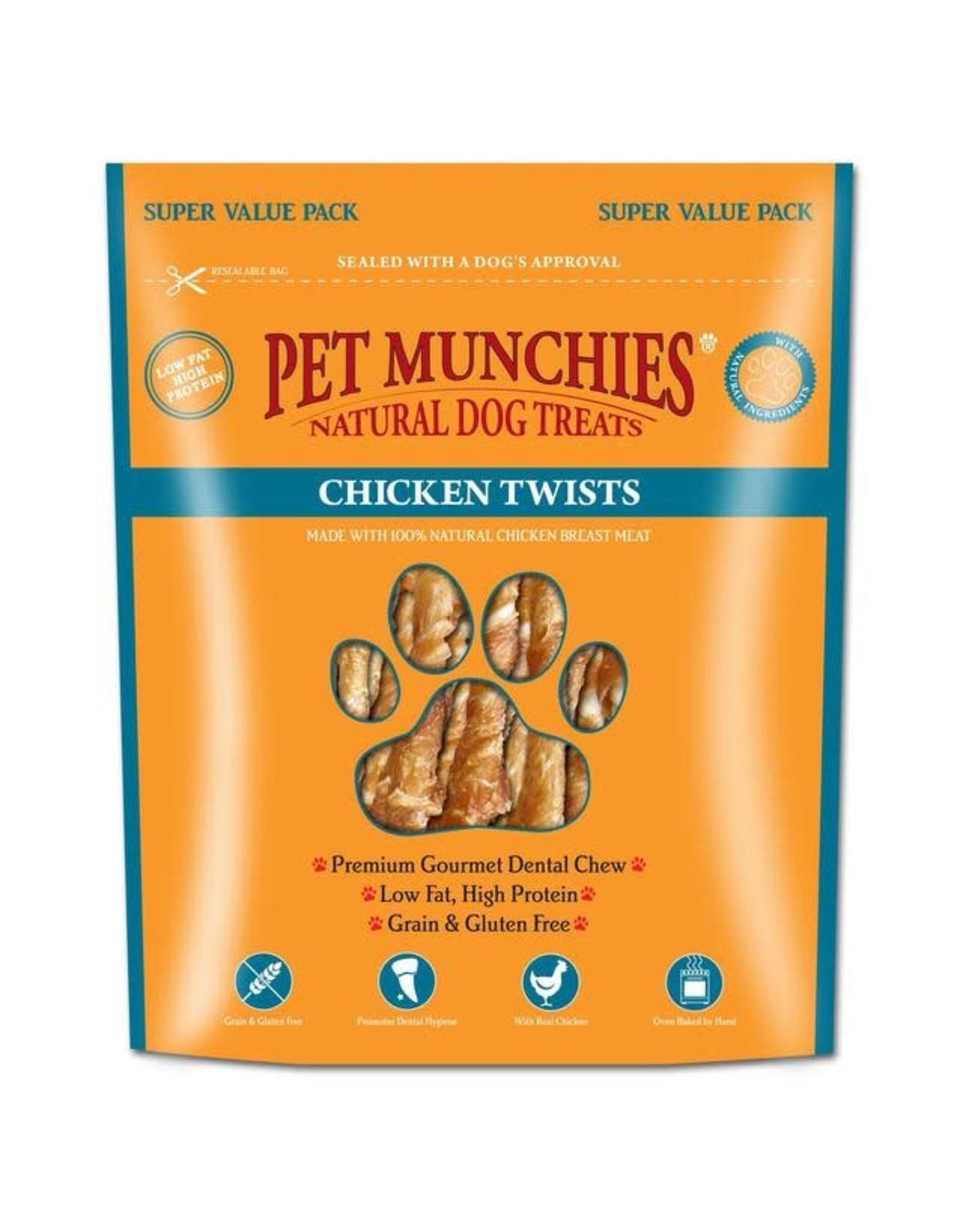 Pet Munchies Chicken Twists Natural Dog Treats, 290g
