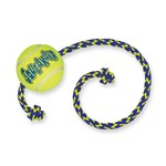 KONG AirDog Squeaker Ball Dog Toy with Rope, Medium