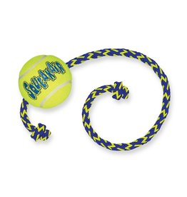 KONG AirDog Squeaker Ball Dog Toy with Rope, Medium