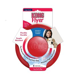 KONG Flyer Frisbee Flexible Rubber Dog Toy, Large