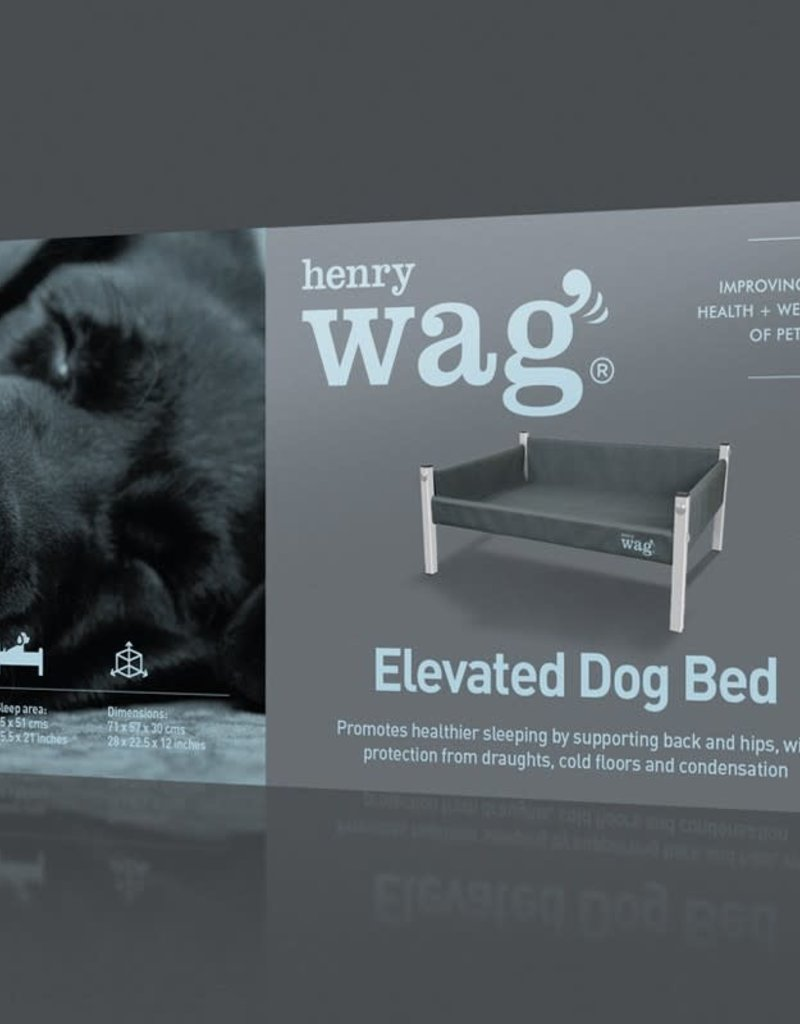 Henry Wag Elevated Dog Bed, Grey