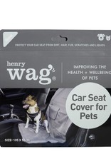 Henry Wag Single Car Seat Cover Protector, Steel Grey
