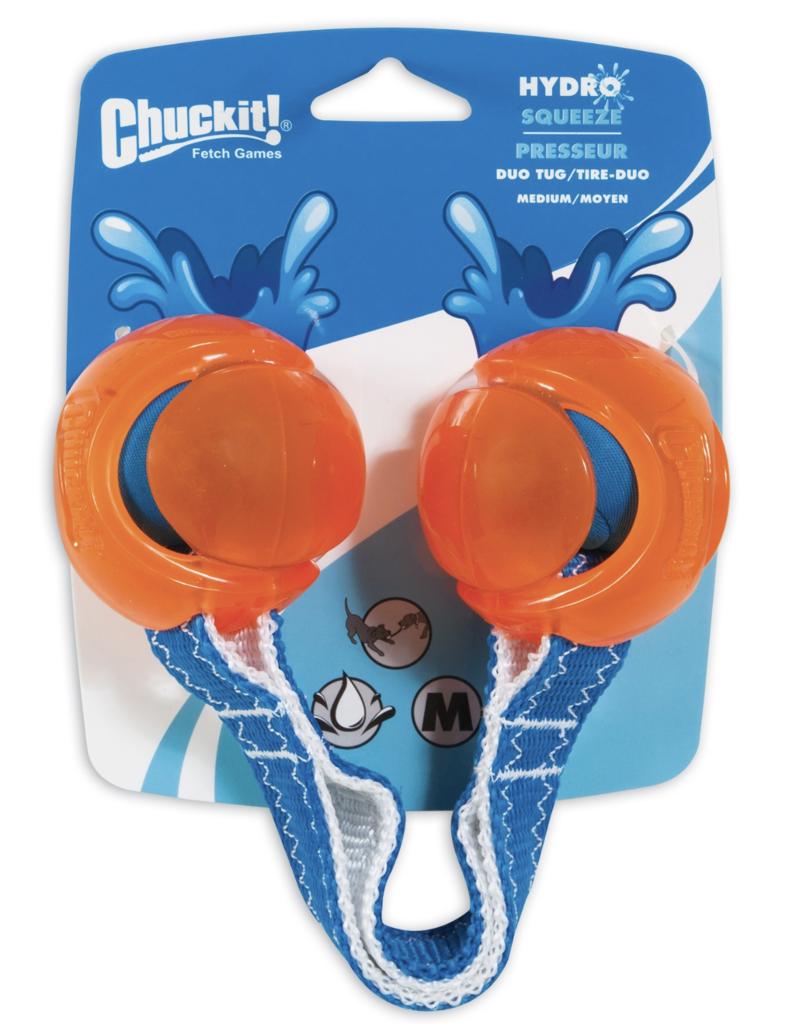 Chuckit Hydrosqueeze Duo Tug Dog Toy Medium 6.5cm