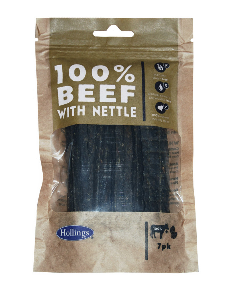 Hollings Beef  & Nettle Treat Bars for Dogs, 7 pack