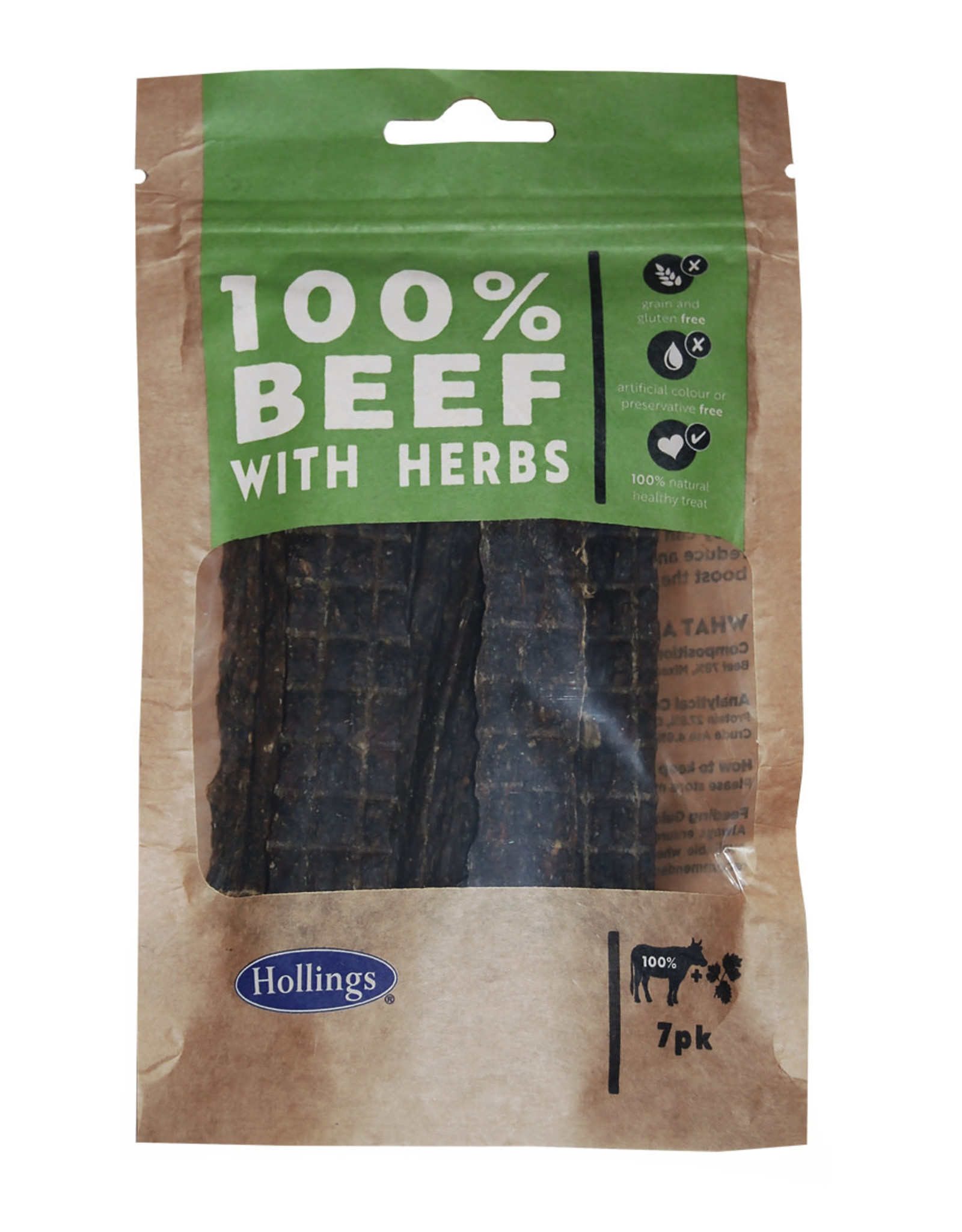 Hollings Beef & Herb Treat Bars for Dogs, 7 pack