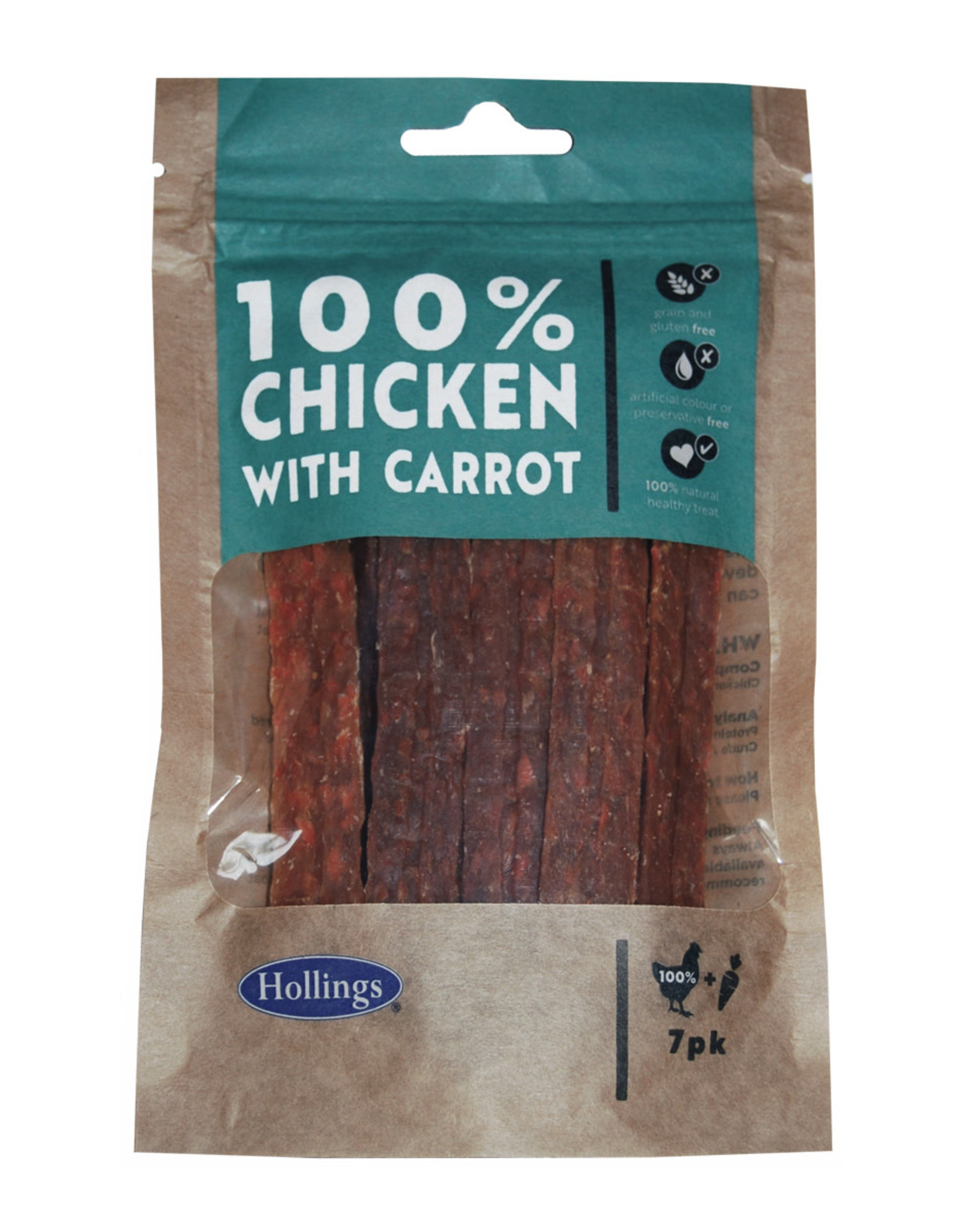Hollings Chicken & Carrot Treat Bars for Dog, 7 pack