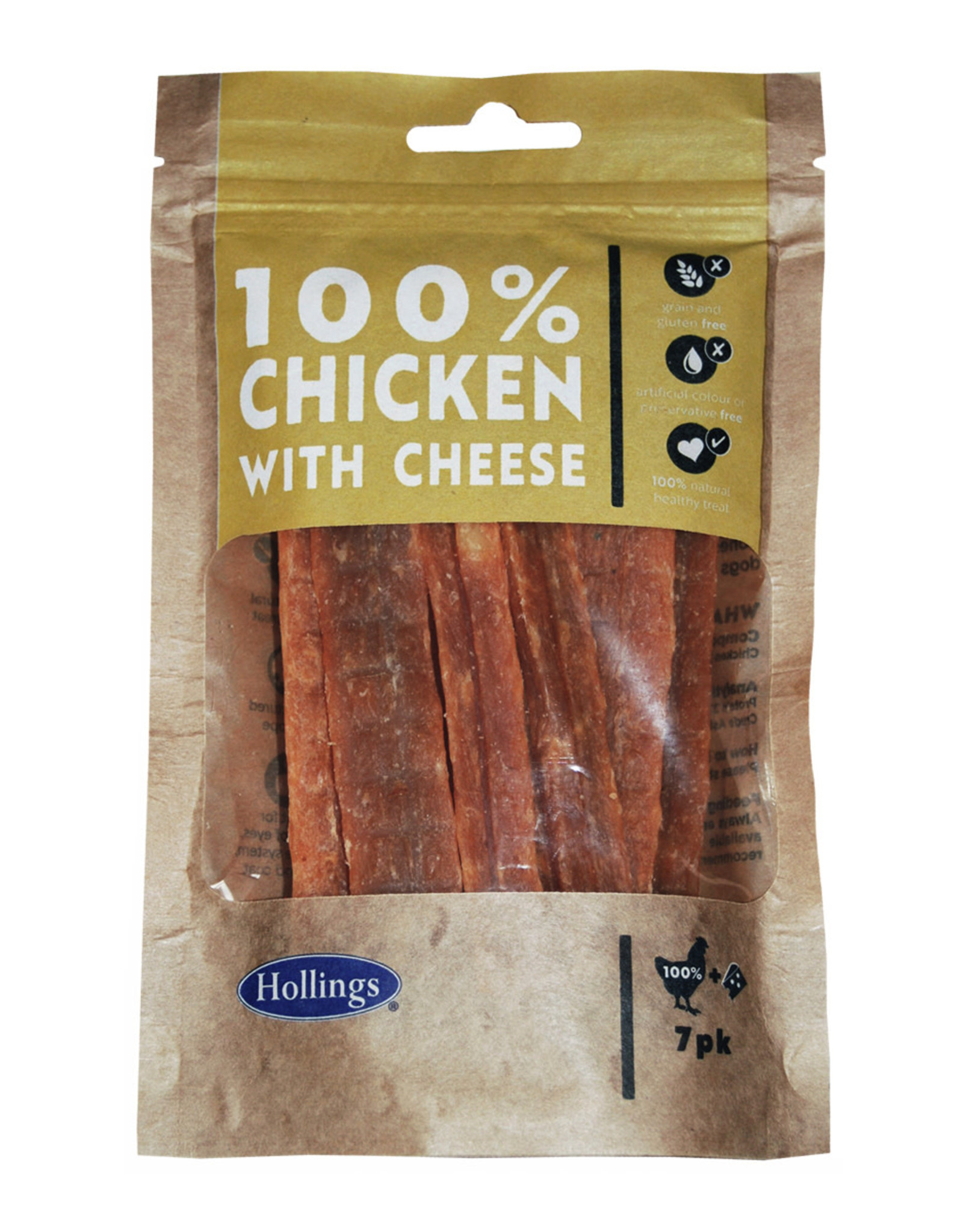 Hollings Chicken & Cheese Treat Bars for Dogs, 7 pack
