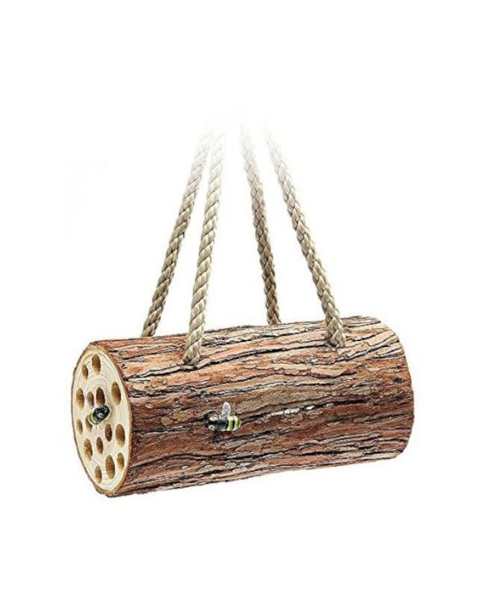 Tom Chambers Bee Log Nest with Rope Hanger (FSC)