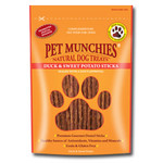 Pet Munchies Duck & Sweet Potato Sticks 100% Natural Dog Treats, 90g