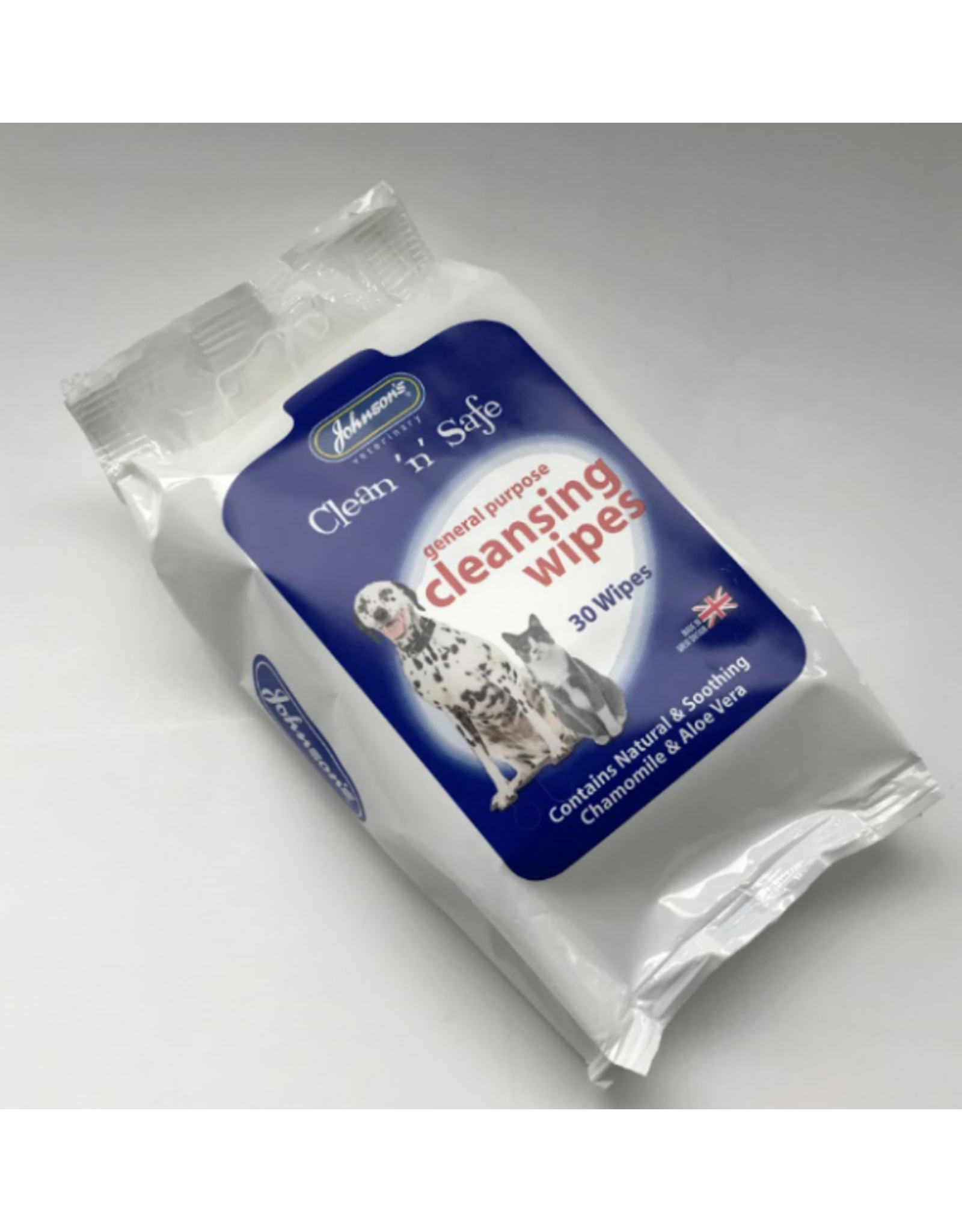 Johnsons Veterinary Clean n Safe Cleansing Wipes, 30 pack