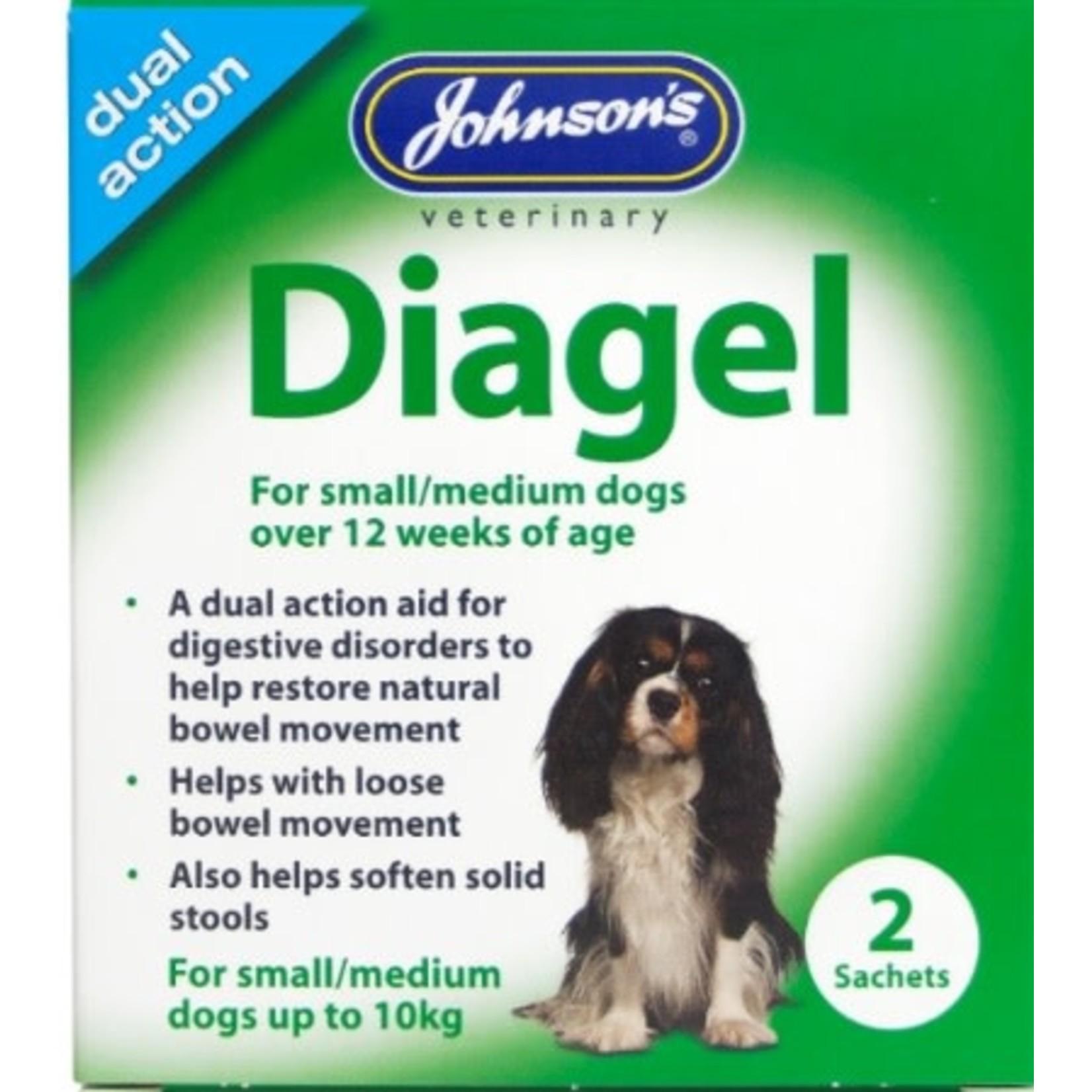 Johnsons Veterinary Diagel Dual Action Aid for Digestive Disorders in Dogs