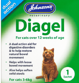 Johnsons Veterinary Diagel Dual Action Aid for Digestive Disorders in Cats, 1 Sachet