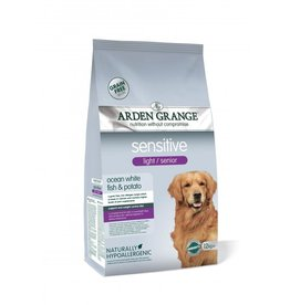 Arden Grange Sensitive Light & Senior Dog Dry Food, Ocean White Fish & Potato