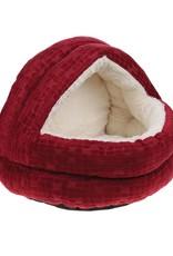 Happy Pet Cave Cat Bed, Cranberry
