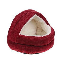 Happy Pet Cave Cat Bed, Cranberry