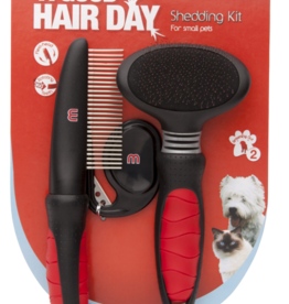 Mikki Grooming Shedding Kit with Slicker Brush, Comb & Matt Splitter, Large