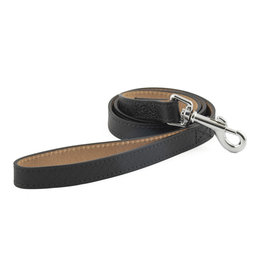 Ancol Heritage Leather Diamond Dog Lead 1m x 25mm, Black
