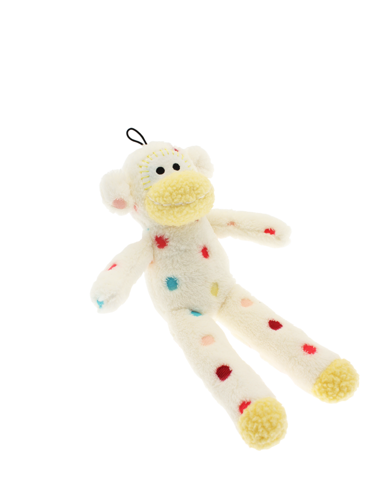 Happy Pet Little Rascals Sock Monkey Dog Toy
