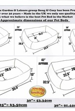 Snug & Cosy Blue Polka Dotty Oval Dog Bed