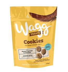 Wagg Cookies Peanut Butter & Banana Cookie Bites Dog Treats, 125g