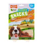 Nylabone Puppy Snacks Turkey & Sweet Potato Dog Treat, Small x 4