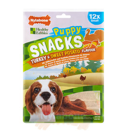Nylabone Puppy Snacks Turkey & Sweet Potato Dog Treat, Small x 4