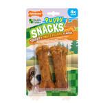 Nylabone Puppy Snacks Turkey & Sweet Potato Dog Treat, Small x 12