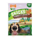 Nylabone Snacks Turkey Flavour Bone Dog Treat, Small x 16