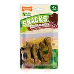 Nylabone Snacks Bison Flavour Bone Dog Treat, Small x 4