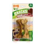 Nylabone Snacks Bison Flavour Bone Dog Treat, Medium x 2
