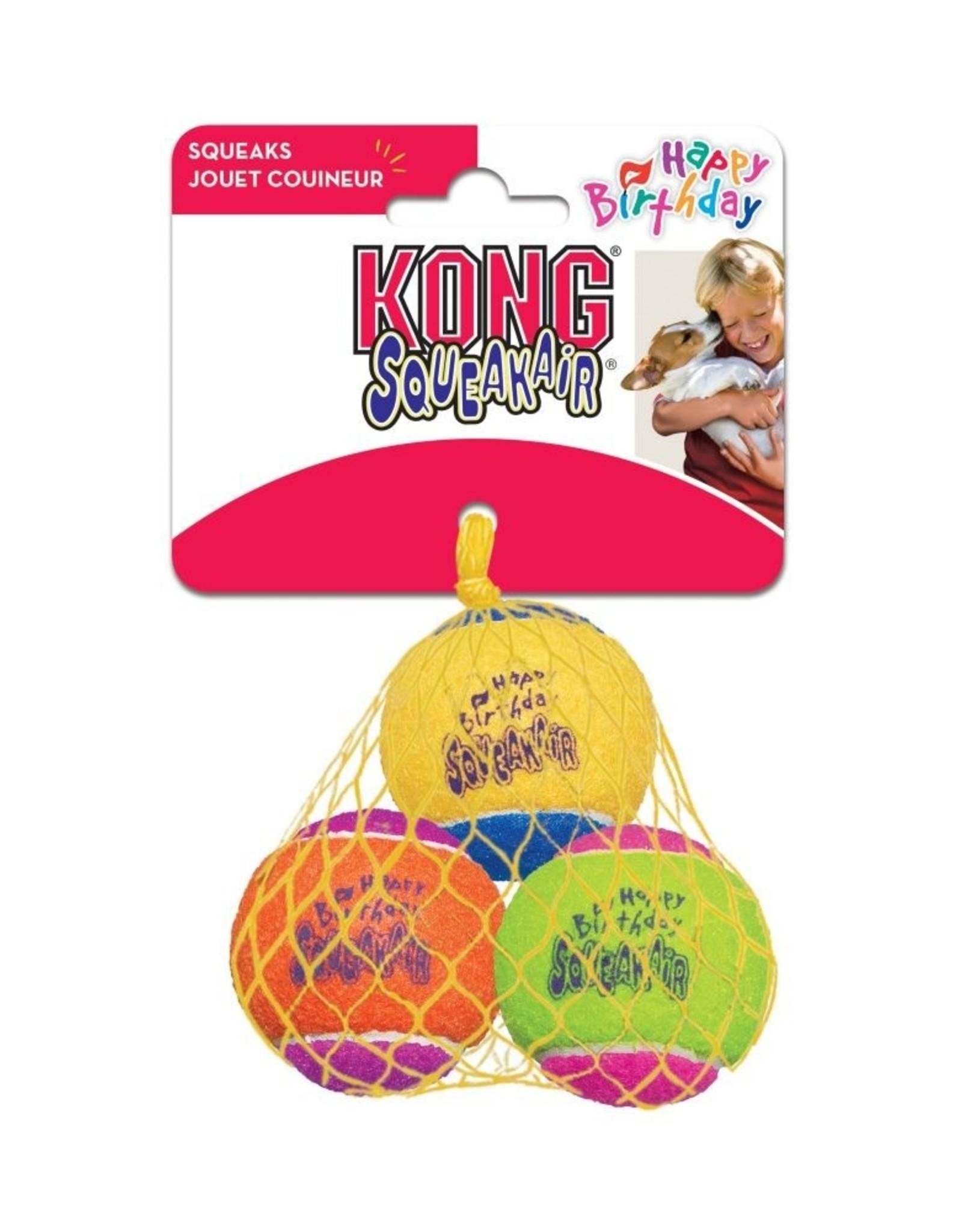 KONG SqueakAir Birthday Balls Dog Toy