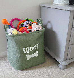 Rosewood Forest Canvas Pet Toy Basket