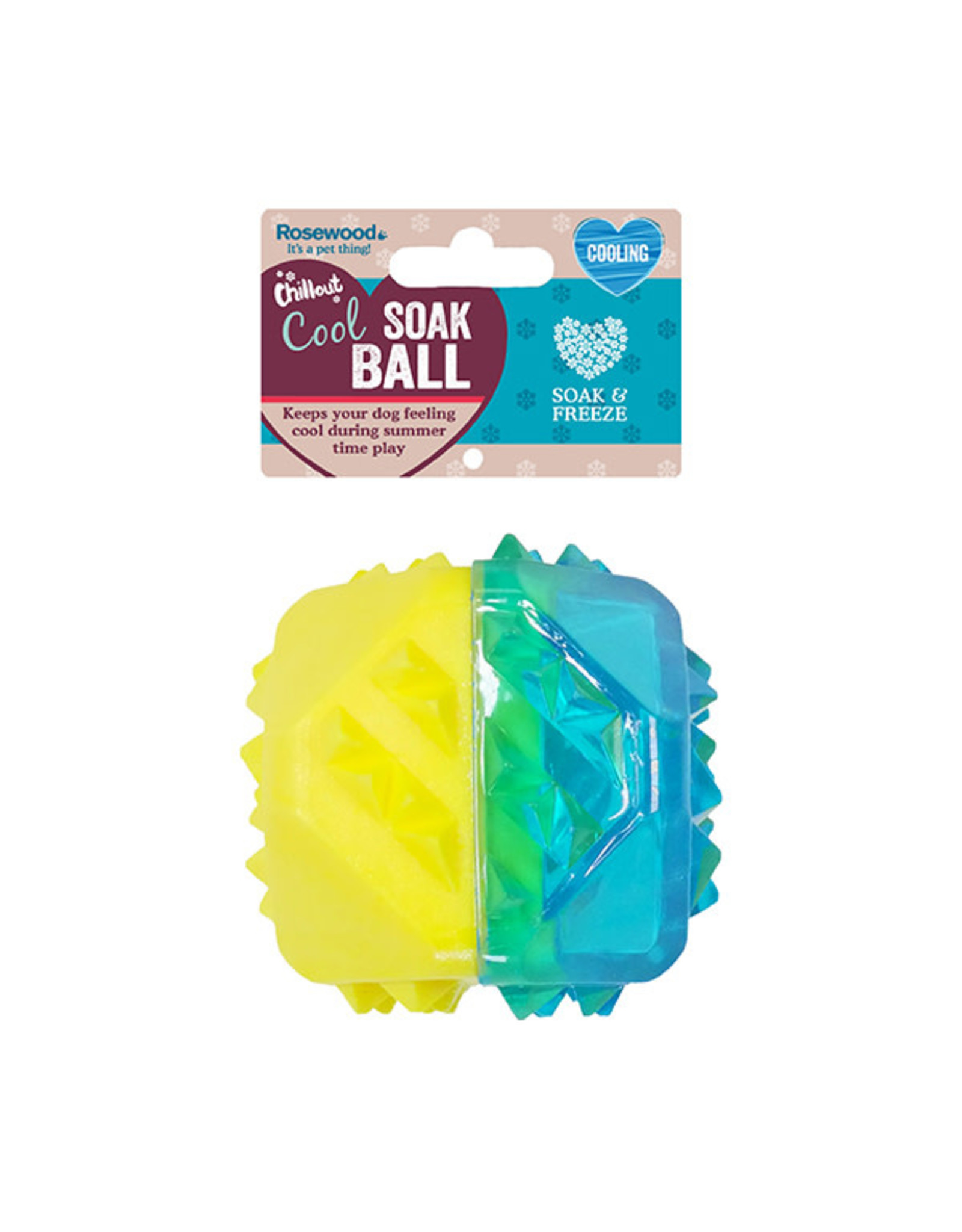 Rosewood Chillax Cool Soak Ball Dog Toy